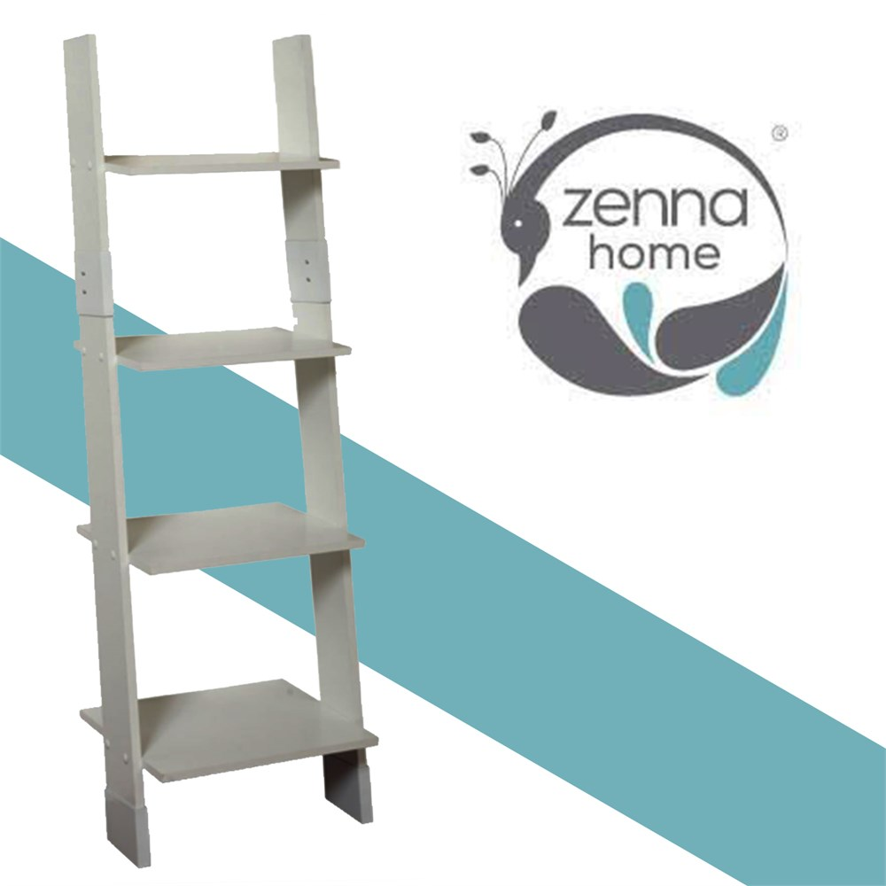 Clearance Depot - NEW Zenna Home Ladder Style Bathroom Linen Tower, White